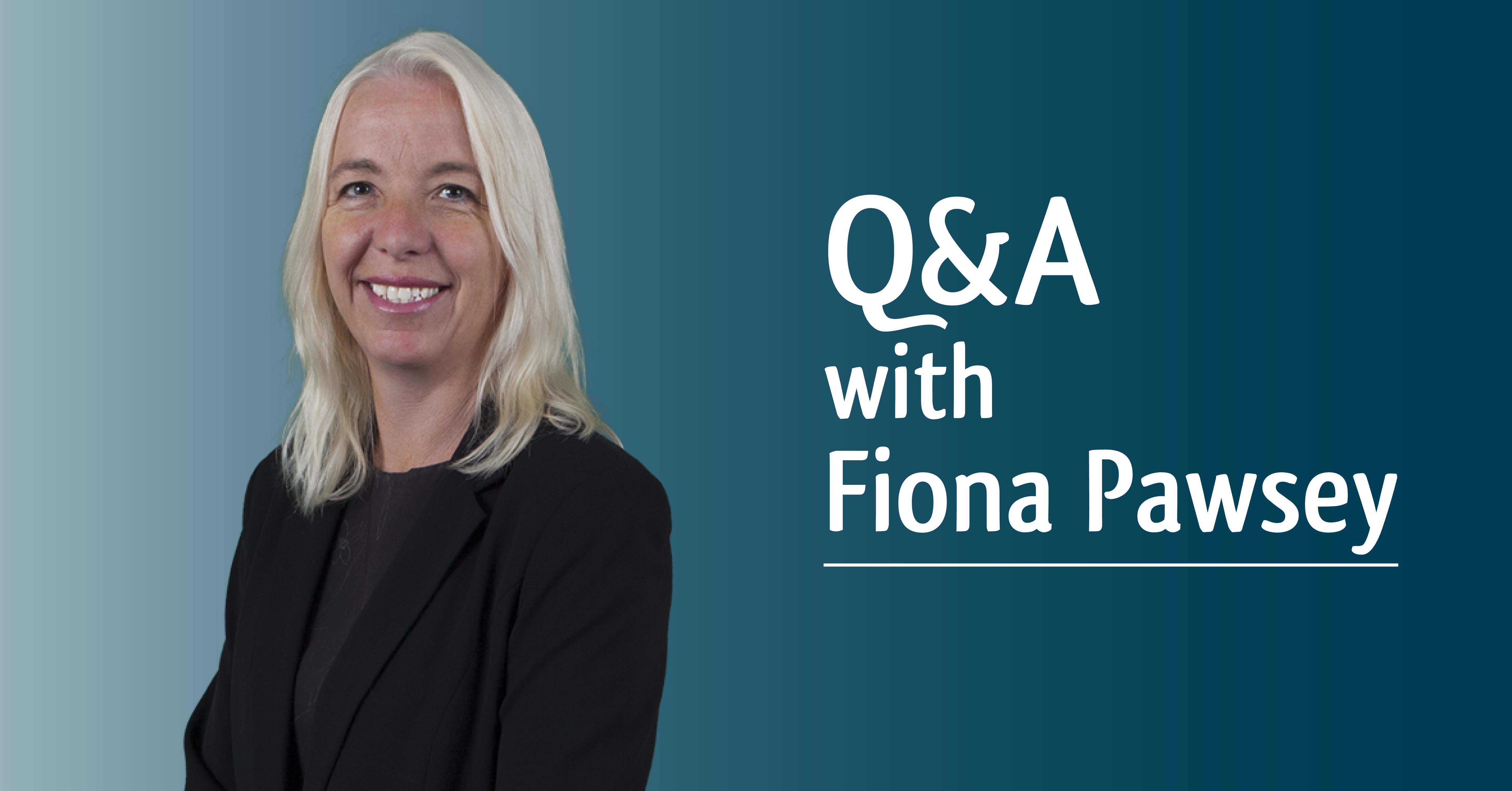 Q&A with Fiona Pawsey
